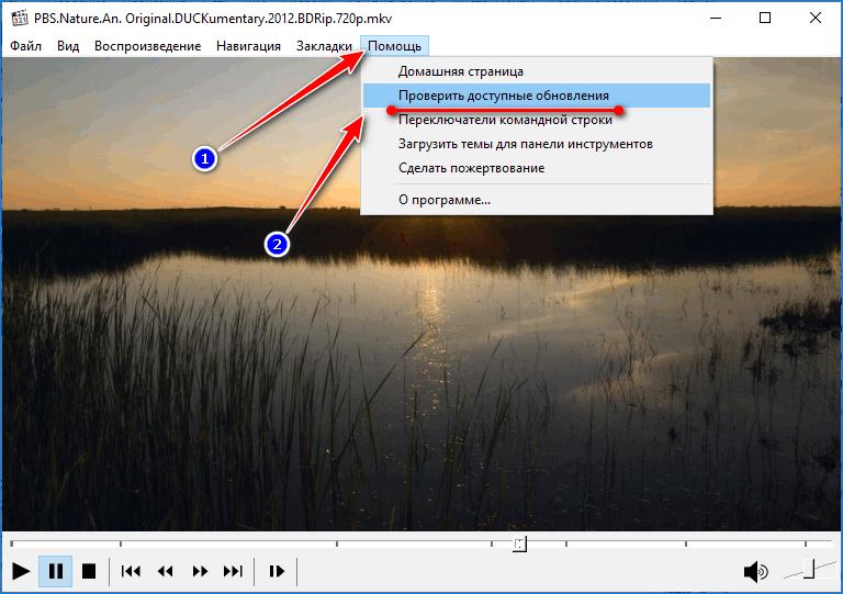 Проверка обновлений Media Player Classic