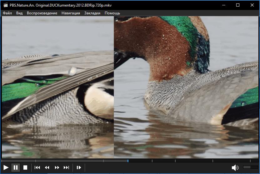 Разрезание и перемещение кадра Media Player Classic